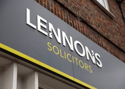 The Lennons Solicitors signage at our Amersham office