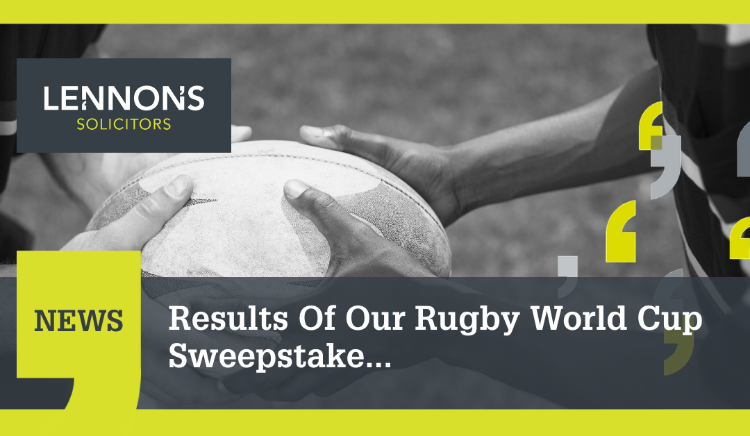 Results Of Our Rugby World Cup Sweepstake…