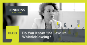 The Law On Whistleblowing